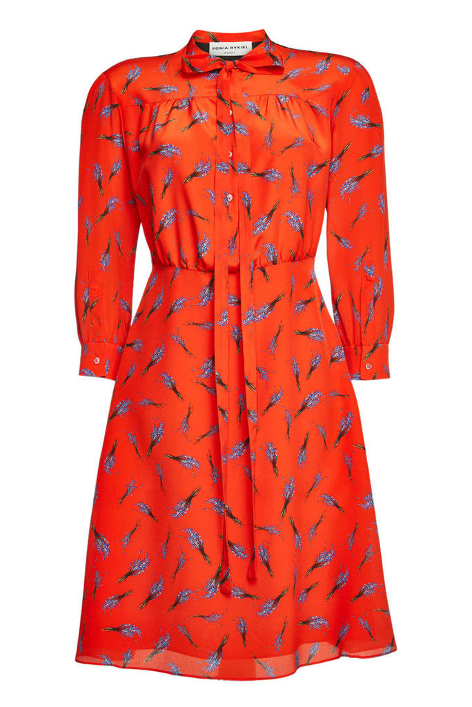 Sonia Rykiel Printed Silk Dress