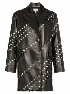Matériel studded faux leather shirt jacket - Black