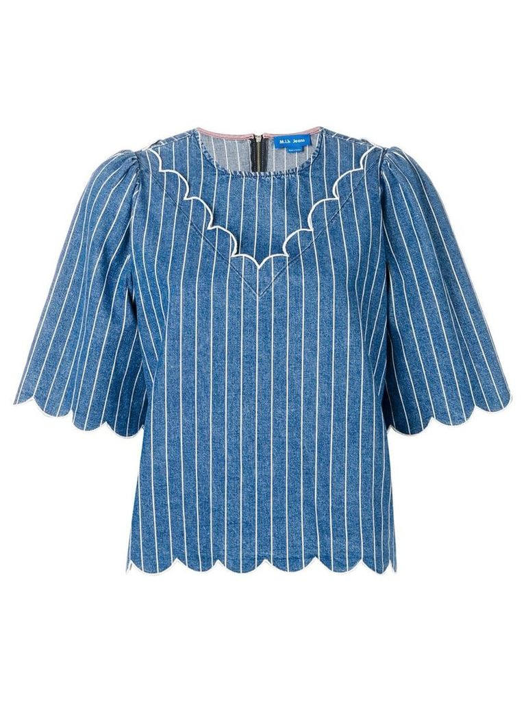 Mih Jeans pinstripe blouse - Blue