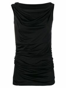 Pinko gathered top - Black