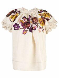 Ulla Johnson embroidered Rumi blouse - Neutrals