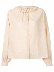 Masscob ruffle collar shirt - Neutrals