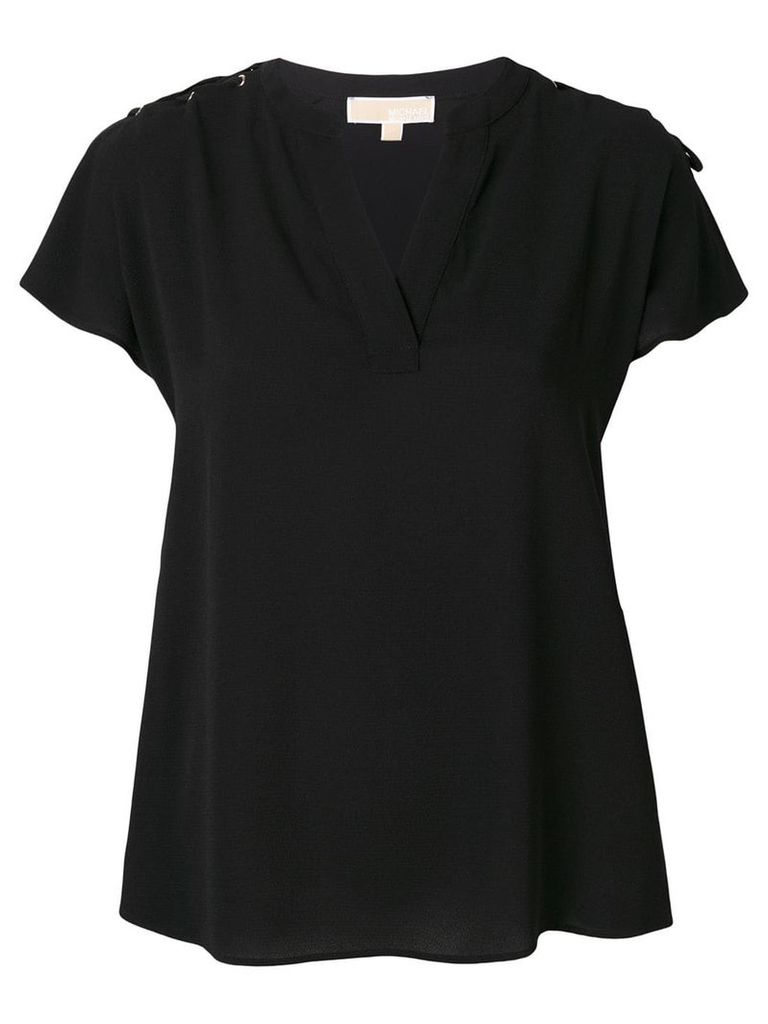 Michael Michael Kors drawstring detail blouse - Black