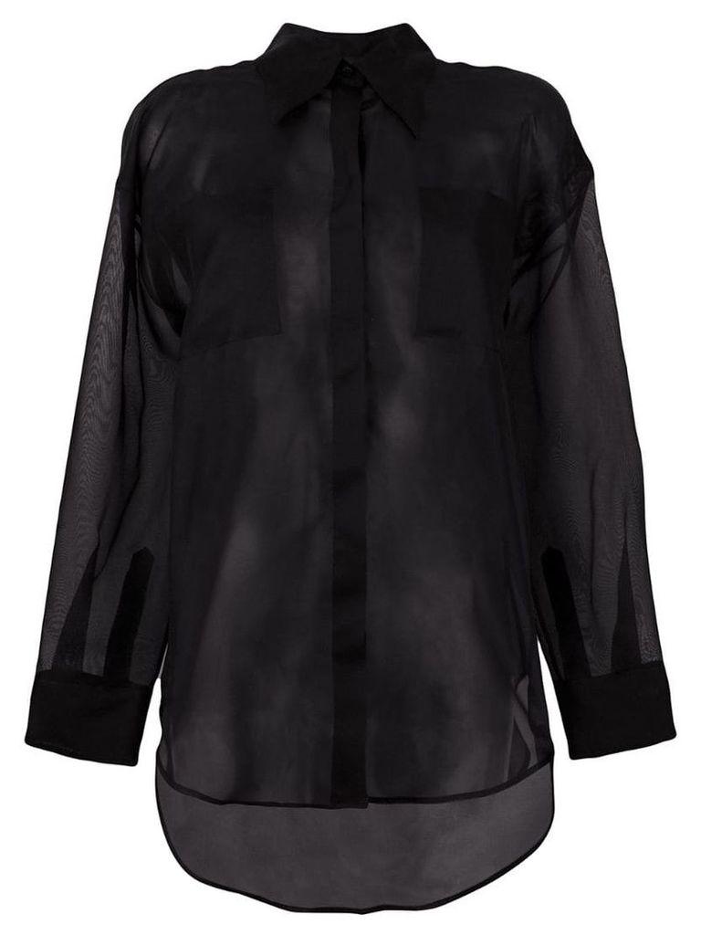 MSGM sheer loose fit shirt - Black