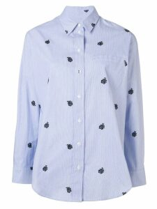 Kenzo rose embroidered shirt - Blue