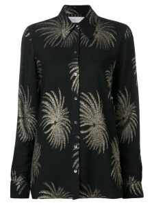 Victoria Victoria Beckham palm tree shirt - Black