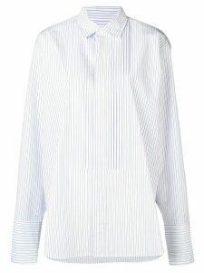 Golden Goose oversized striped shirt - White