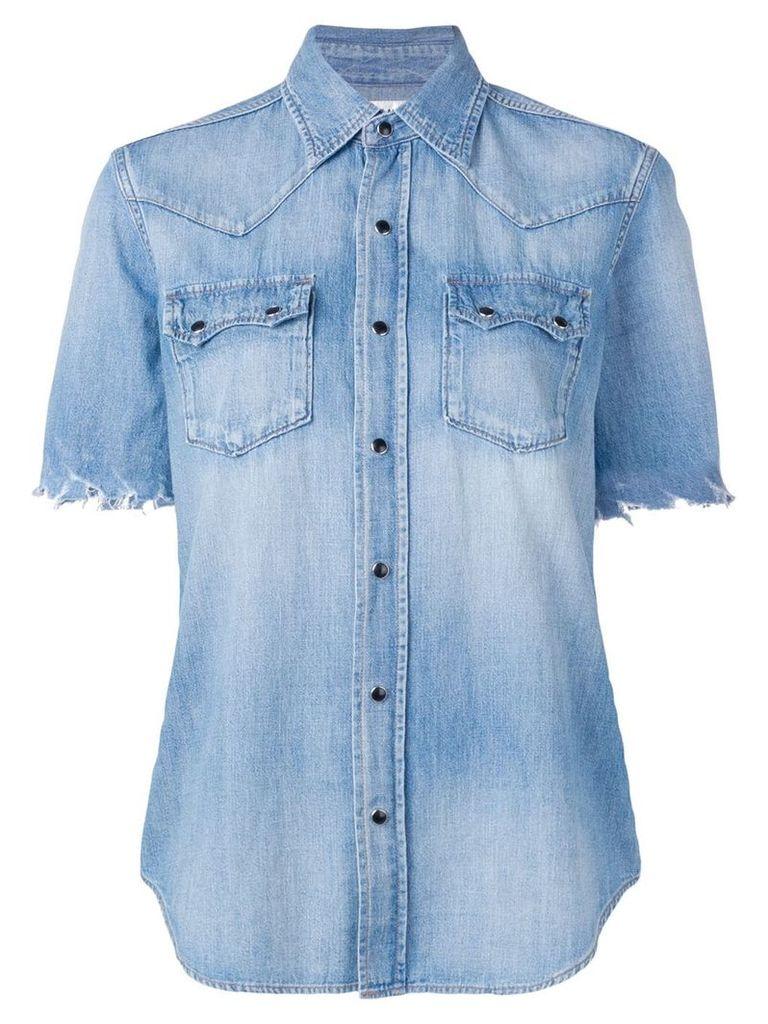 Saint Laurent basic denim shirt - Blue