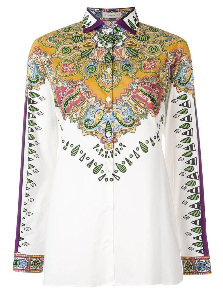 Etro paisley printed shirt - White