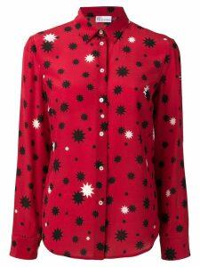Red Valentino contrast star print shirt