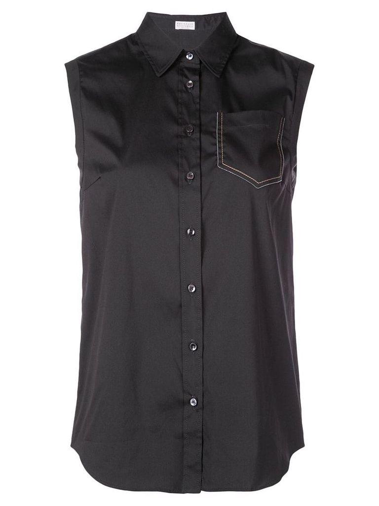 Brunello Cucinelli sleeveless shirt - Black