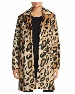 Vero Moda Lila Leopard Faux-Fur Coat