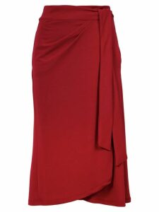 Lilly Sarti tie fastening skirt - Red