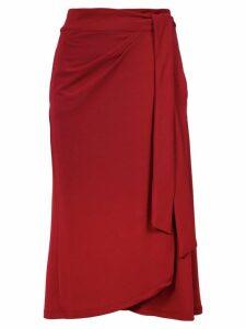 Lilly Sarti tie fastening skirt - Red