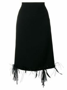 Thom Browne Raw Edge Appliqué Cardigan Skirt - Black