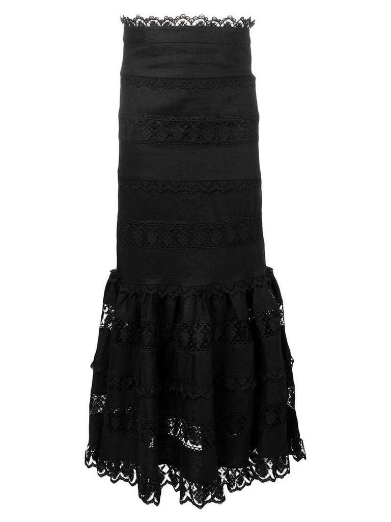 Zimmermann Wayfarer panelled skirt - Black