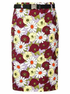 Prada flower print denim skirt - Purple