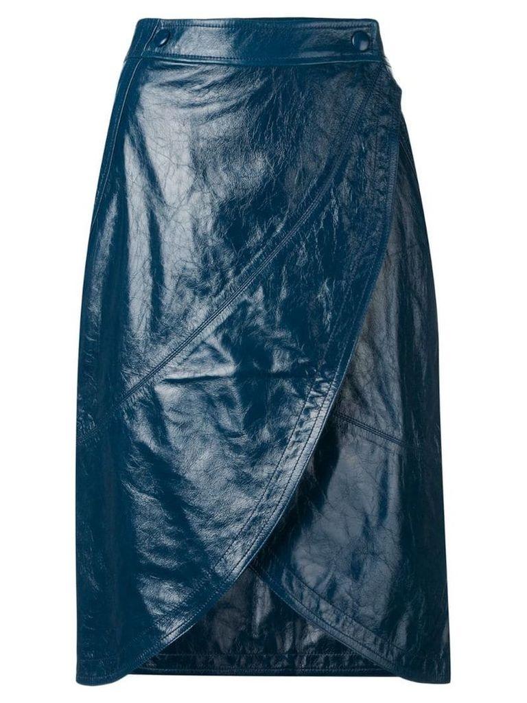 Givenchy wrap-around midi skirt - Blue