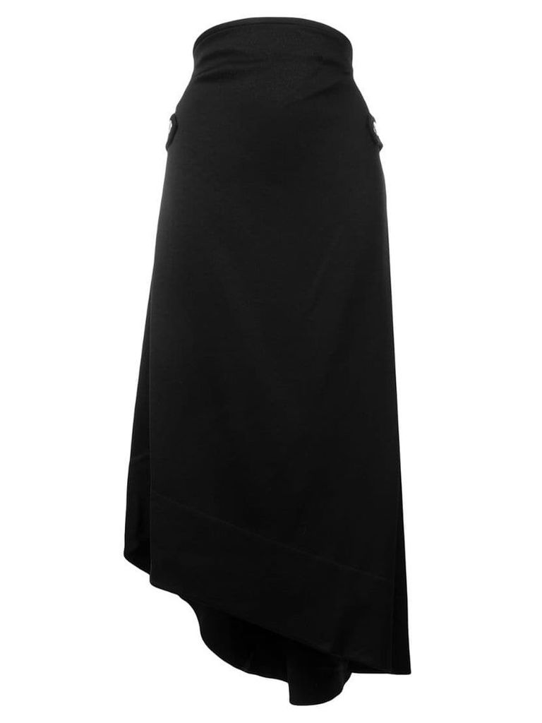 Ellery asymmetric midi skirt - Black