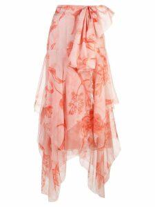 Johanna Ortiz asymmetric midi skirt - PINK
