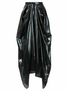 Christopher Kane iridescent oil skirt - Black