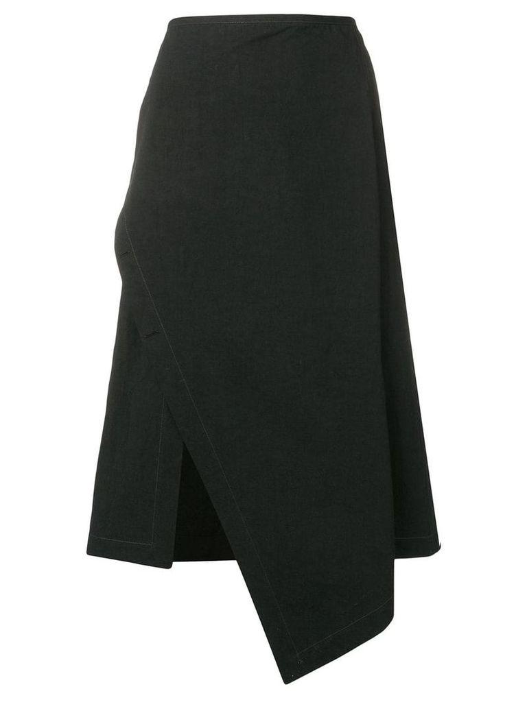 Lemaire asymmetric wrap skirt - Black