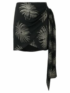 Victoria Victoria Beckham palm tree skirt - Black