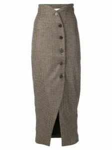 Nanushka houndstooth button skirt - Neutrals