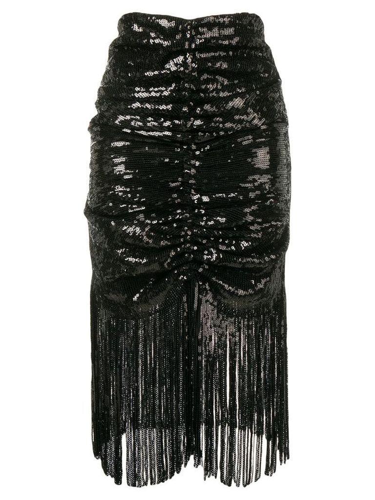 Giuseppe Di Morabito draped sequin skirt - Black