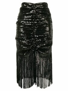 Giuseppe Di Morabito draped sequin skirt - Black