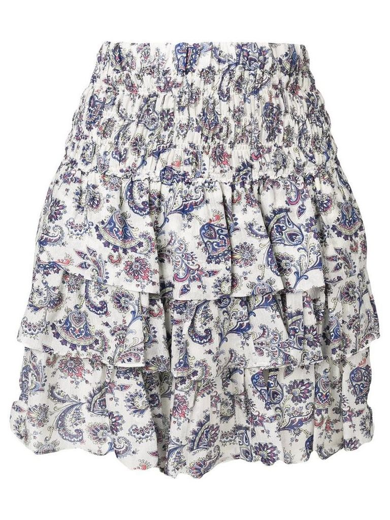 Isabel Marant tiered skirt - White