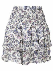 Isabel Marant tiered skirt - White