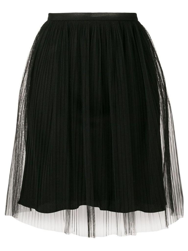 Maison Margiela layered gathered skirt - Black