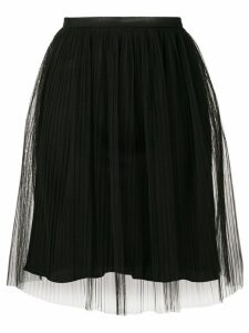 Maison Margiela layered gathered skirt - Black