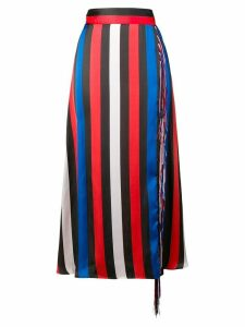 MSGM striped skirt - Blue