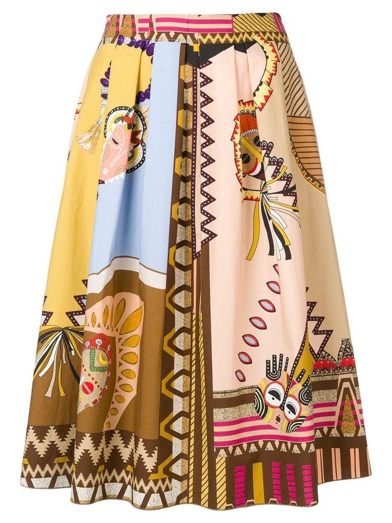 Etro aztec style print skirt - Brown
