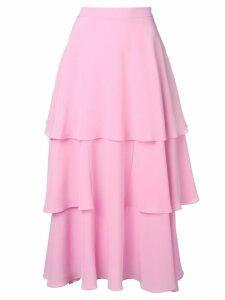 Stella McCartney soft frill tiered skirt - Pink