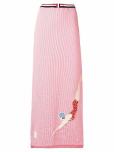Thom Browne Sequin Icon Seersucker Slip Skirt - Pink