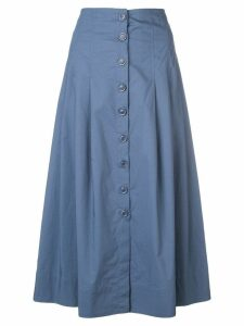 Sea front button skirt - Blue