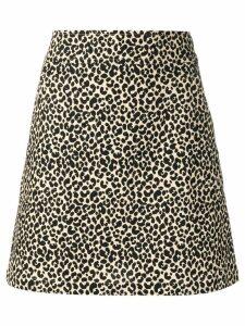 A.P.C. leopard print skirt - Neutrals