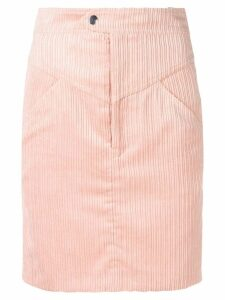 Isabel Marant high waisted corduroy skirt - Pink