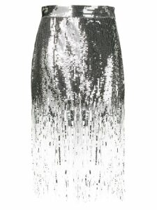 MSGM sequin fringed skirt - Silver