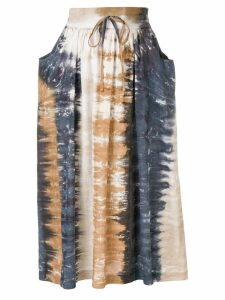 Raquel Allegra tie-dye print skirt - Brown