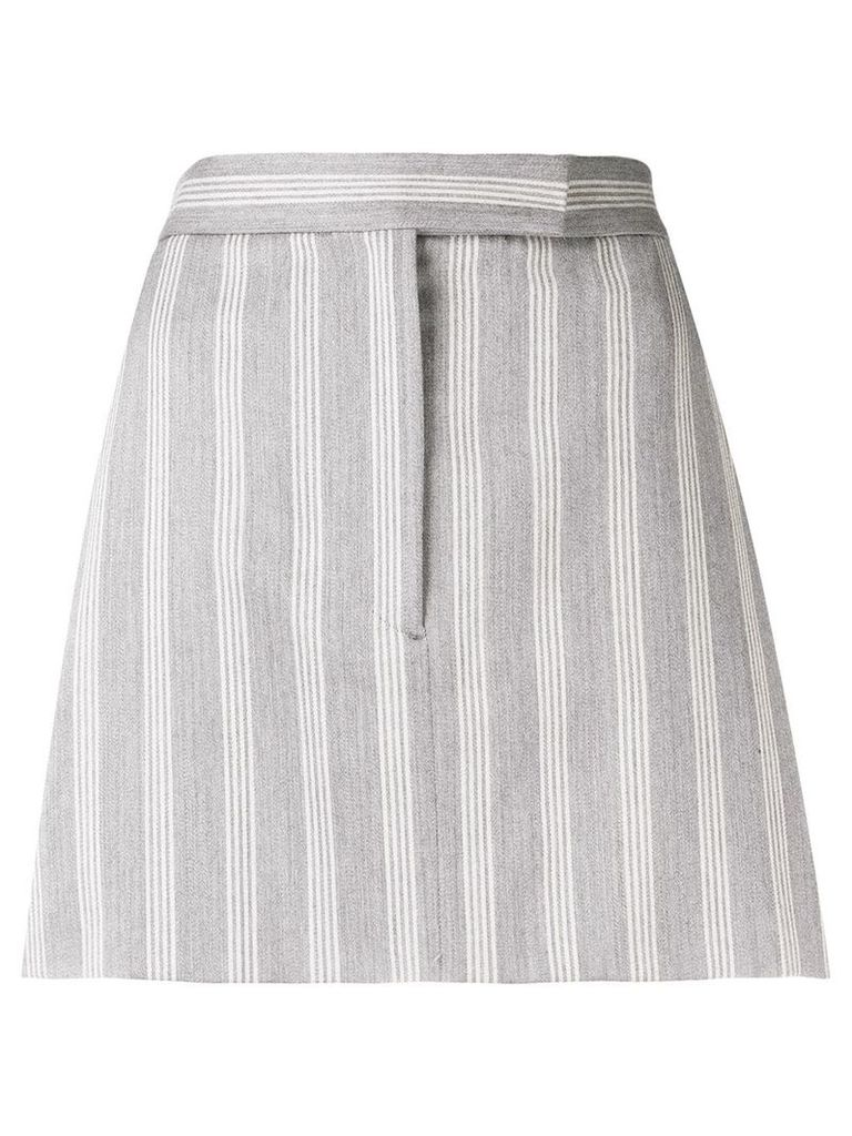 Thom Browne 4-Bar Repp Stripe Miniskirt - Grey