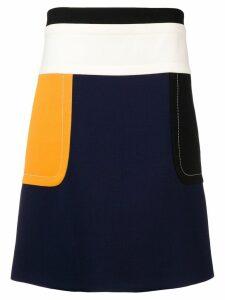 Marni colour block high-waist skirt - Blue