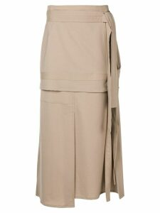 3.1 Phillip Lim Wool Patchwork Skirt - Neutrals