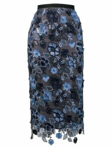 Antonio Marras floral embroidered pencil skirt - Grey