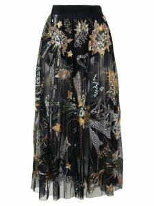 Amen sheer sequin skirt - Black