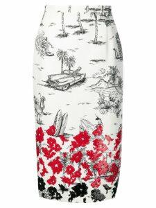 Nº21 sequin embellished pencil skirt - White