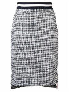 Thom Browne Textured Tweed Pencil Skirt - Blue